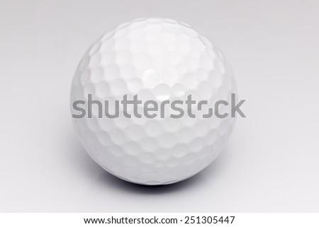 White Golf ball Closeup shot - stock photo