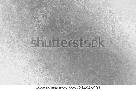 white gray background with monochrome grayscale color splash design element angled from corner to corner, distressed old vintage textured paper with gray crackled painted center - stock photo
