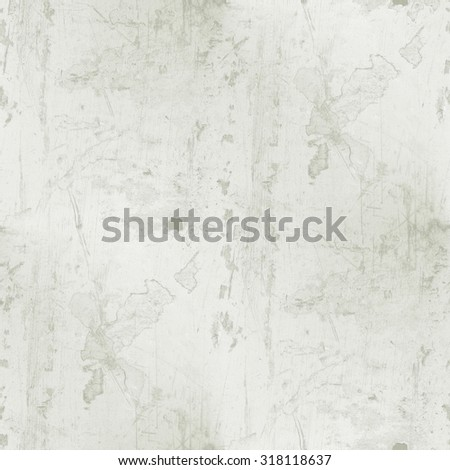 white grunge wall - spots and scratches seamless pattern - stock photo