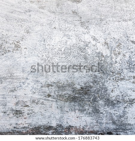 White grungy cement wall texture - stock photo