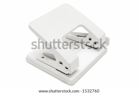 White Hole Puncher w/ Path - stock photo