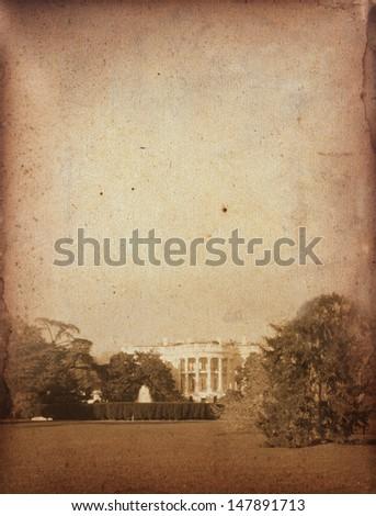 White house grunge - stock photo