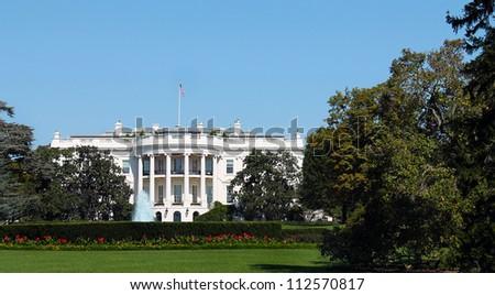 White House, in Washington DC, United States of America - stock photo