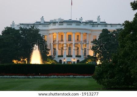 White house, Presidential Residence in Washington, DC. - stock photo