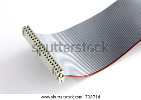 White IDE connector - stock photo