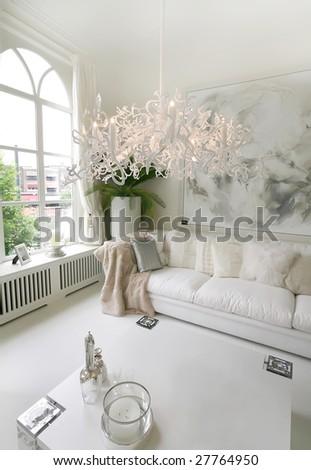 white interior - stock photo