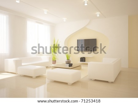 white interior concept - stock photo