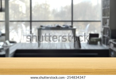 White Interior of living room - stock photo