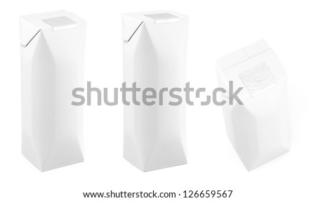 White juice eight sides packing in different views - stock photo