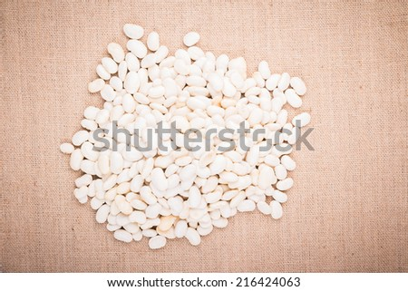 white kidney bean studio shot - stock photo