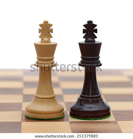 White King and Black King - stock photo