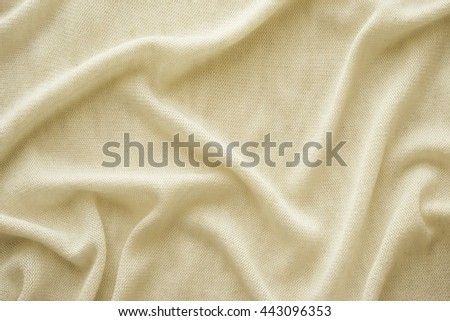 white knit fabric texture . white jersey draped background . White cotton wool textiles - stock photo