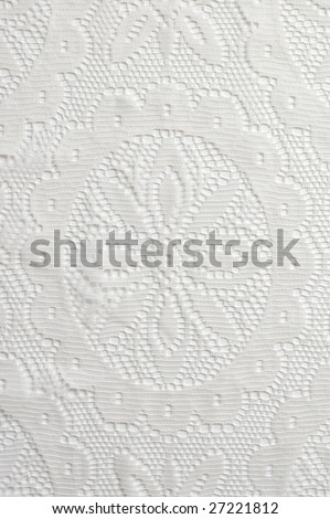 White lace abstract background closeup - stock photo