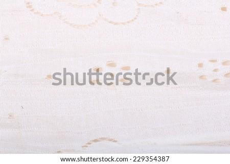 White Lace Fabric - stock photo