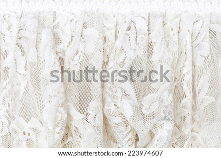 White lace of dining table in the wedding. - stock photo