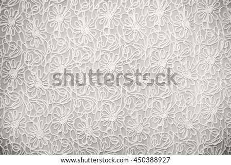 white lace with small flowers - stock photo