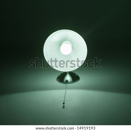 white lamp - stock photo