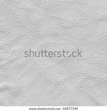White leather, background - stock photo