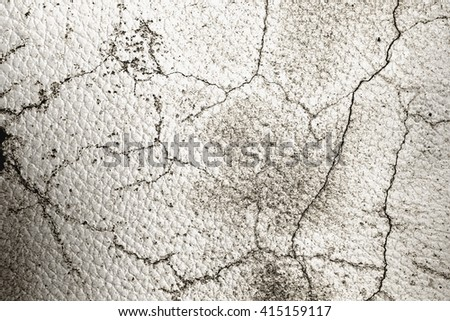 White leather Old  background or texture stretch marks art - stock photo