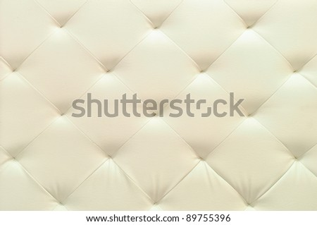 white leather upholstery - stock photo