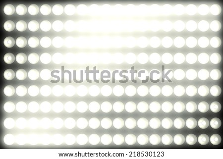 white light panel background glowing with some flare - stock photo