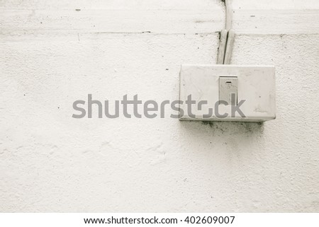 white light switch. - stock photo