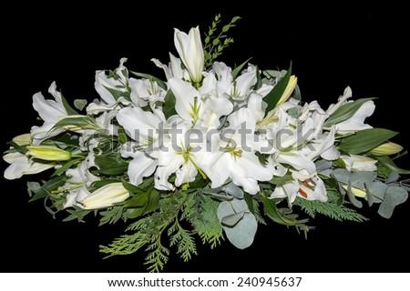 White Lilies Spray - stock photo