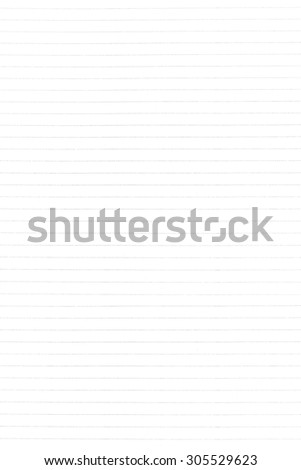 White lined paper texture background - stock photo