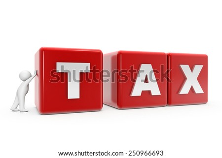 White man with a square shape. White background - stock photo