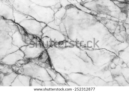 White marble patterned texture background. Marbles of Thailand, Black and white. - stock photo