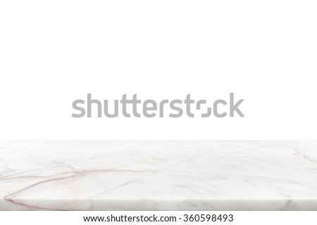 White marble stone countertop - can be used for display or montage your products - stock photo