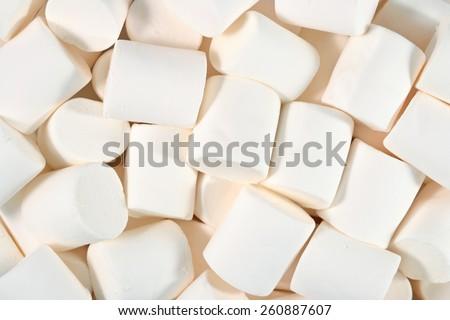 White marshmallow background  - stock photo