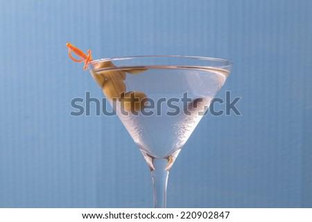 white martini glass, retro processing - stock photo