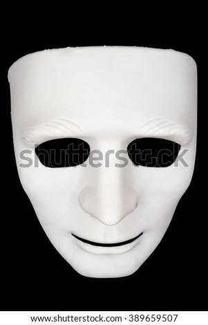 White mask on black background. - stock photo