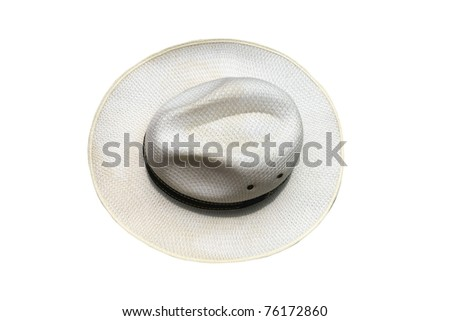White men hat - stock photo