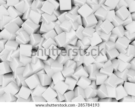 White mesh of 3d cubes  - stock photo