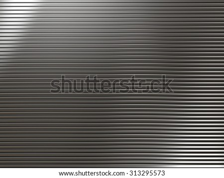 White metal background with striped texture - stock photo