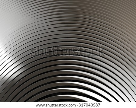 White metal background with stripped texture and light refleftion - stock photo