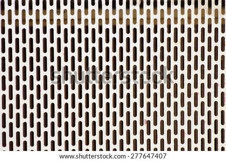 white metal mesh - stock photo