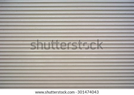 White metal roller door shutter background and texture - stock photo