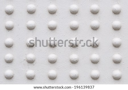 White metal texture with rivets - stock photo
