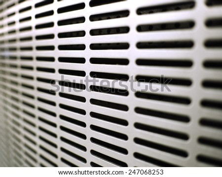 White  Metal Ventilation Louver Close up of air condition - stock photo