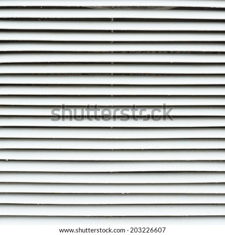 White metal window blinds fragment as an abstract background composition - stock photo