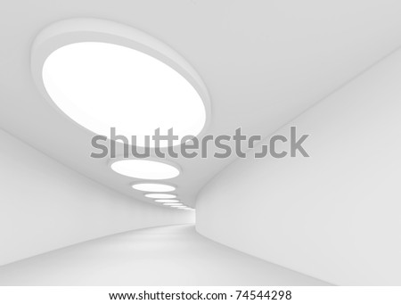 White Modern Interior - stock photo