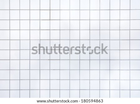 white mosaic - stock photo