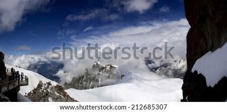 White mountain panorama - stock photo