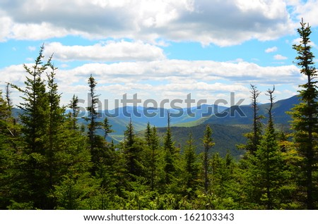 White Mountains New Hampshire - stock photo