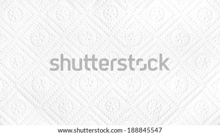 white napkin - stock photo