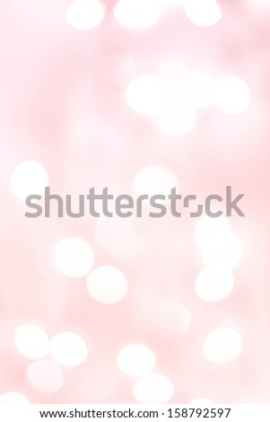 White Natural Defocused Bokeh lights on a soft pink  gradient background, festive backdrop  - stock photo