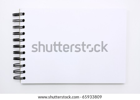white note book isolated on white background - stock photo